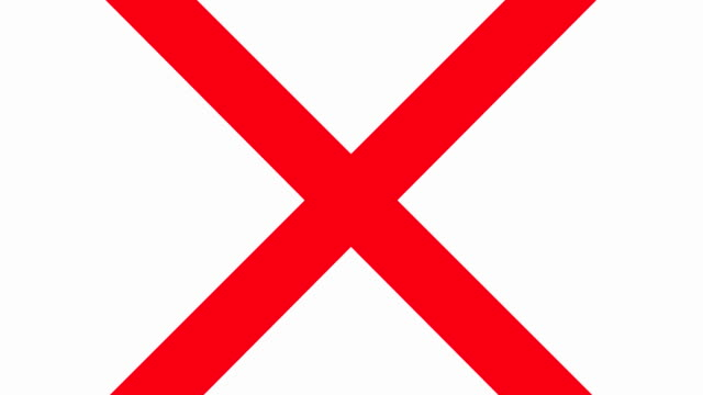 Red X Prohibited Sign video