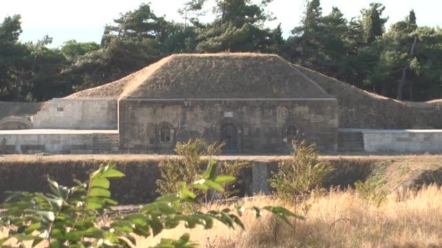 redoubt/turkish army used these structures for defense during the canakkale war /turkey - męczennik filmów i materiałów b-roll