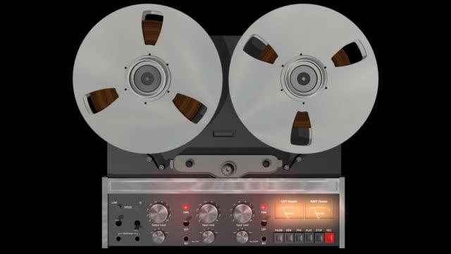 bobina registratore audio hd anteriore (loop - mangianastri video stock e b–roll