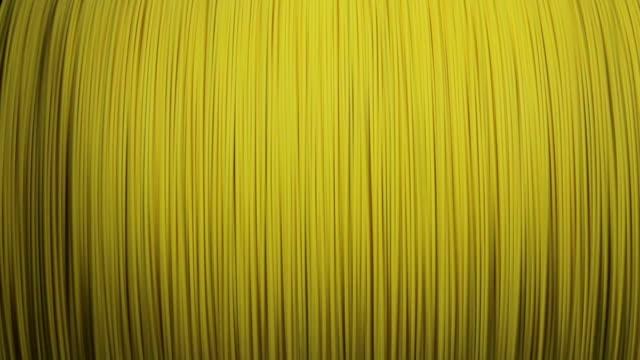 bobina con cavo in fibra ottica - cilindro video stock e b–roll