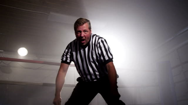 referee in ring counts down - wrestling stock videos and b-roll footage