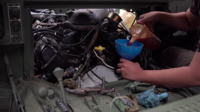 Refilling engine oil