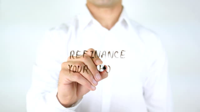 Refinance Your Home, Man Writing on Glass video