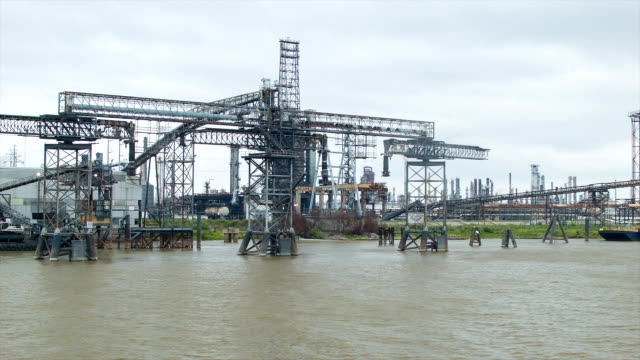 Refinery on the Banks of the Mississippi River video