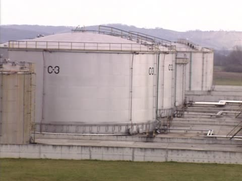 Refinery, pipes and reservoirs video
