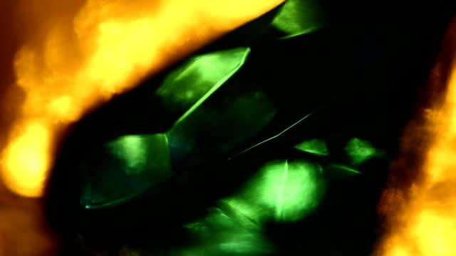 Reflections on emerald diamond video
