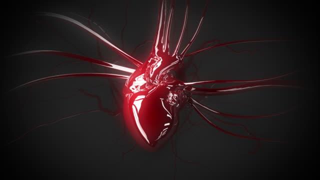 odblaskowe animacja serca - serce człowieka filmów i materiałów b-roll