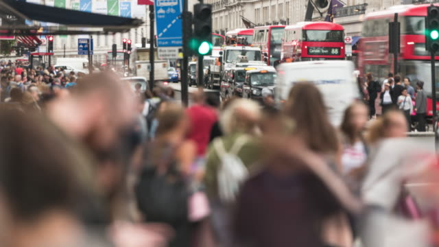 Regent Street London time lapse video