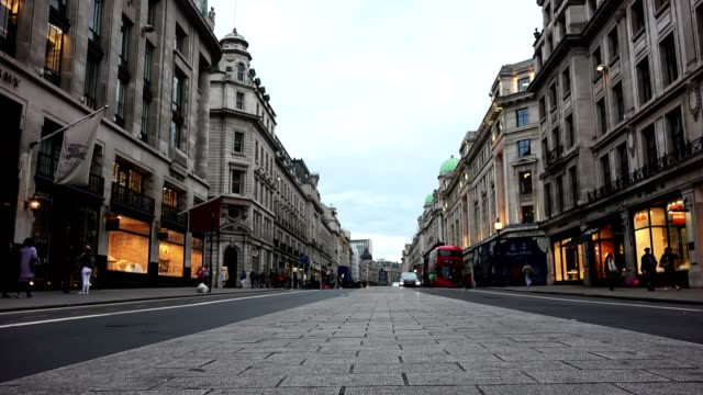 Regent Street one of the major shopping streets in the West End of London, london, uk, circa 2016 may Regent Street is one of the major shopping streets in the West End of London 19th century style stock videos & royalty-free footage