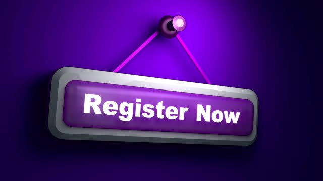 Register Now Symbol Animation video