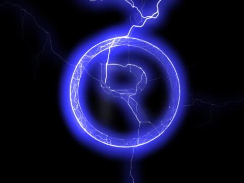 NTSC: 'Registered' sign in lightning video