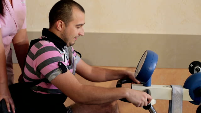 Rehabilitation therapy at the specialized bike. video