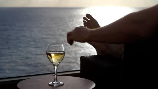 stockvideo's en b-roll-footage met relaxing in the ocean air - cruise