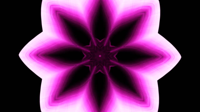 Relaxing kaleidoscope of a pink and white colored flower