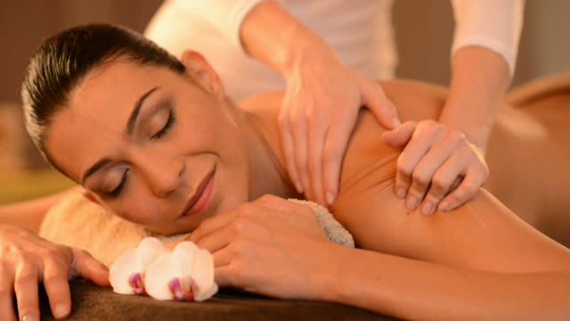 Relaxing Massage At Beauty Spa Salon video