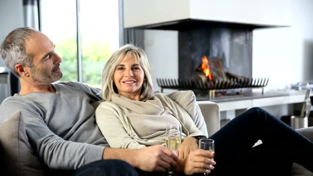 Relaxing moment by fireplace video