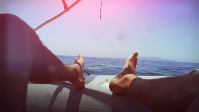 Relaxing point of view on the boat video