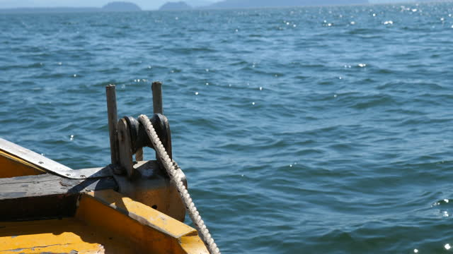 Releasing Anchor Rope for Mooring