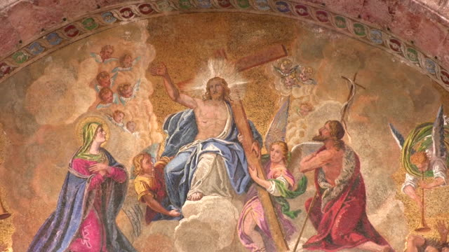 stockvideo's en b-roll-footage met religious fresco - mozaïek
