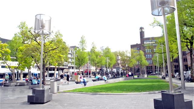 Rembrandt Square in Amsterdam video