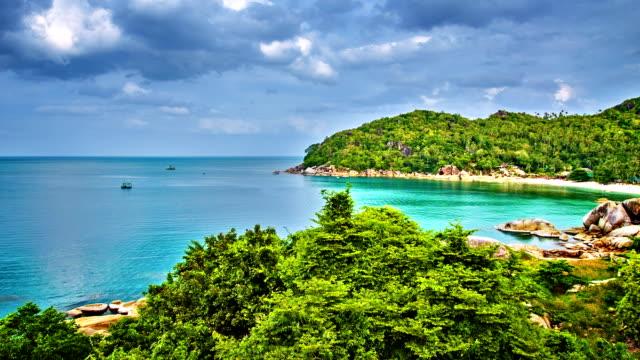 Remote beach and wide sea video