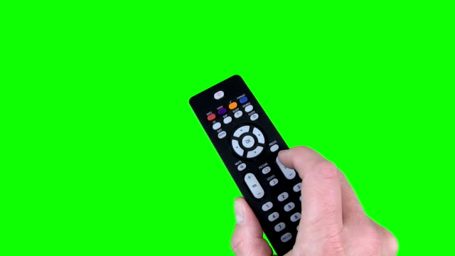 Remote Control on Chroma Key Green Screen video