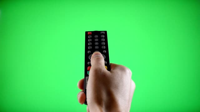 Remote Control Television changing one channel video