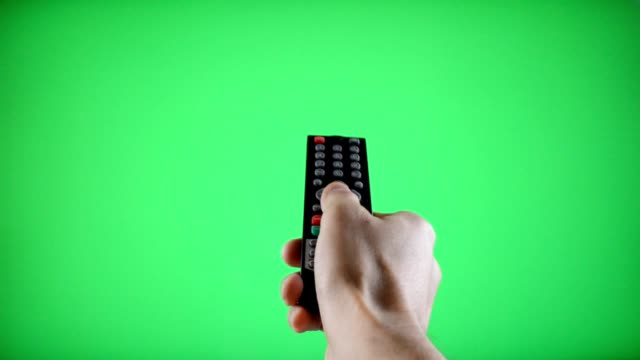 Remote Control Television changing three channels video