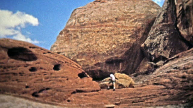CANYONLANDS, UTAH -1971: Remote hiking proves rewarding with near-alien geological features.