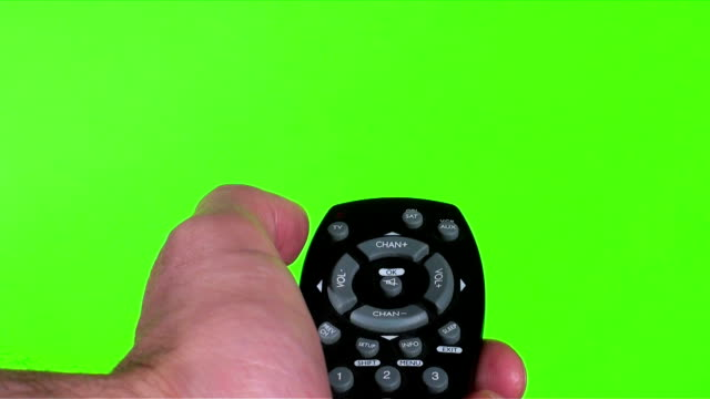 Remote points against green - HD video