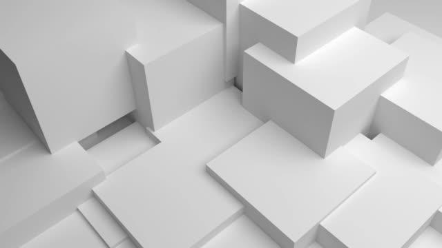 vídeos y material grabado en eventos de stock de 3d render animación fondo blanco - cube