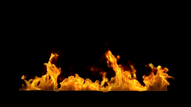 3d render fire motion graphic mit reisenden matten - brennen stock-videos und b-roll-filmmaterial