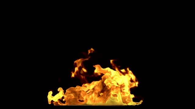 3D Render Fire Motion Graphic With Travelling Mattes
