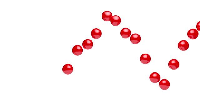 vidéos et rushes de 3d rendu animation effet de sphères tombant sur le sol. - balle ou ballon