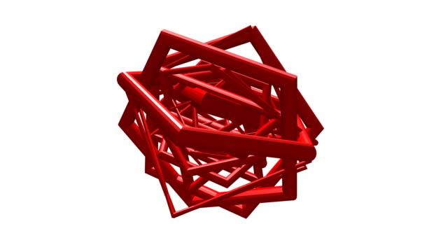 3D rendered frame shape rotation