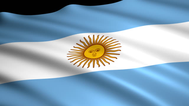 3d rendering flag of argentina - bandiera dell'argentina video stock e b–roll