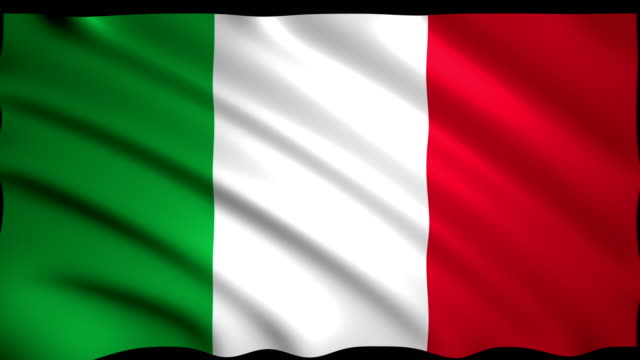 3D Rendering Flag of Italy video