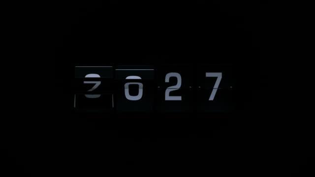 3D Rendering Flip Board Year Animation Video 2027-2028 video
