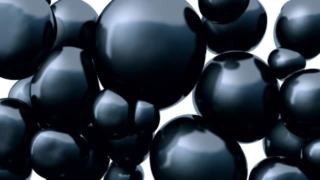 vídeos de stock, filmes e b-roll de esferas flutuantes de renderização em 3d. composição abstrata. - esfera