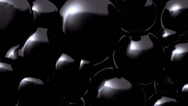 3D rendering floating spheres. Abstract composition. video
