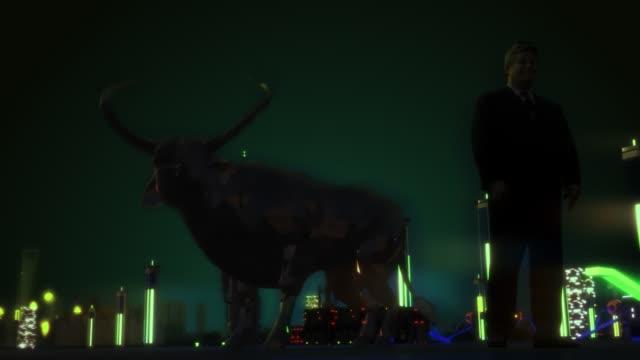 Rendering  Of bull for Business Share Market
