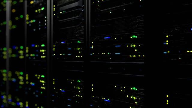 3d. 使用閃爍 led 的資料伺服器渲染。資料伺服器的迴圈動畫 - 人造的 個影片檔及 b 捲影像