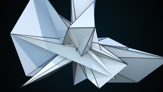 3D rendering spiky fractal shape on black, computer generated abstract modern background