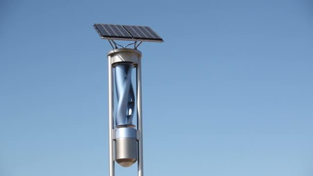 Erneuerbare Energien leichte mit Solar-Panel und Windkraftanlage – Video