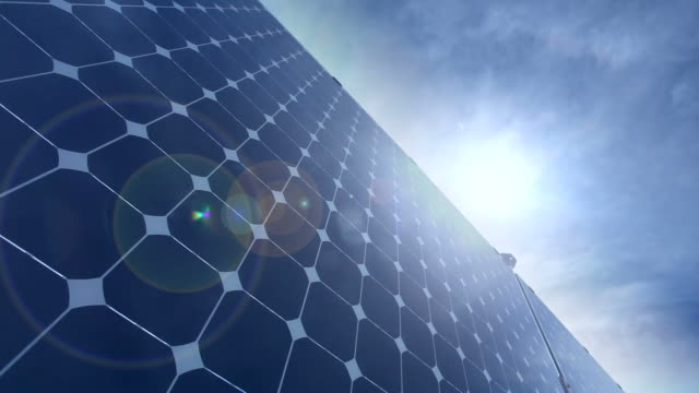Renewable Energy - Solar Panel, Time Lapse video