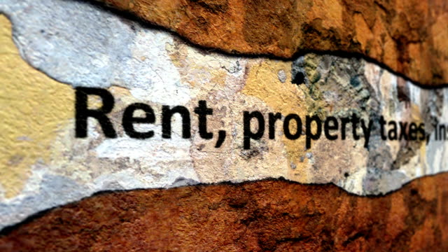 Rent tax insurance grunge concept Rent tax insurance grunge concept house rental stock videos & royalty-free footage
