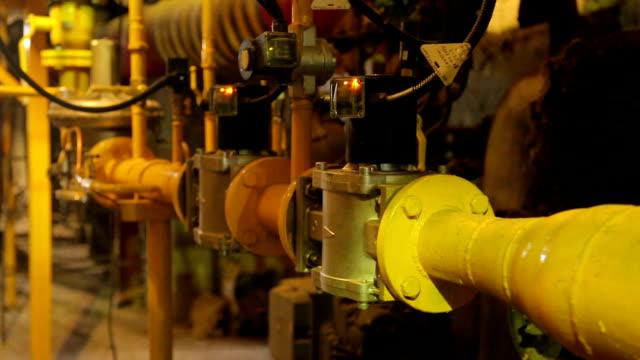 repair gas boiler welding spark pipe cutting