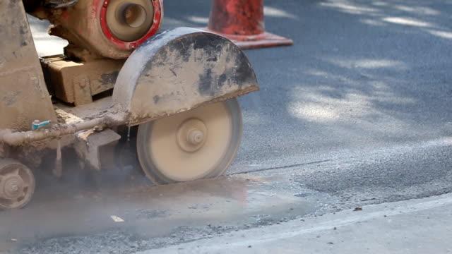 Repair of a road covering video