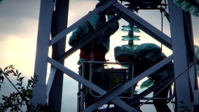 Repair power lines video