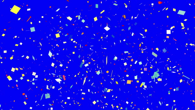 Repeatable falling colorful confetti 4K Chroma Key (Loopable)